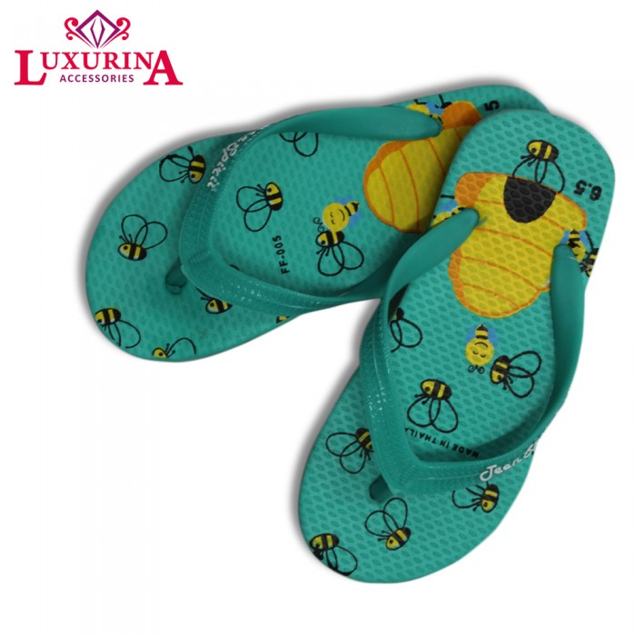 1ef38ae0f Teal Honey Bee   Hive Kids Flipflops - from category Shoes (Luxurina  Accessories)