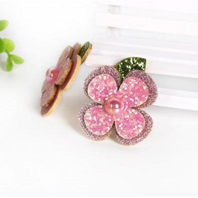 Huge 6cm Glitter flower clip