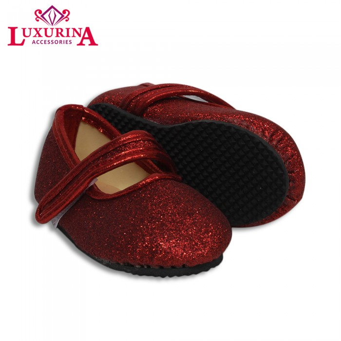 Red Glitter Strap Baby Shoes - from category Shoes (Luxurina Accessories) 2a74d0b1a