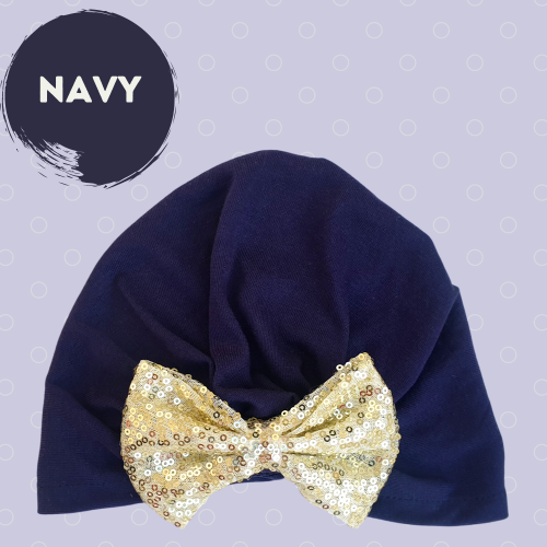 Jersey cap with sequin bow