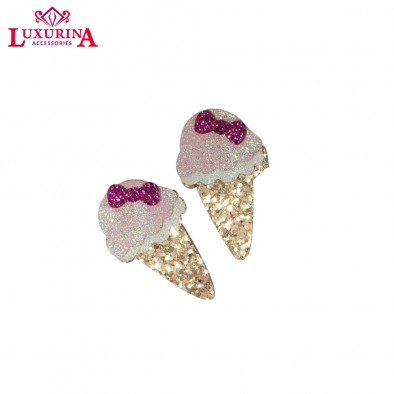 Glitter & Bow Ice Cream Clip