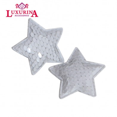 SEQUINCE WHITE star Clip