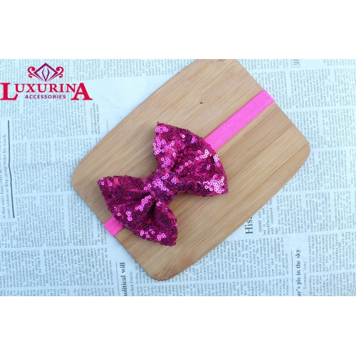 Huge Sequence bow headband